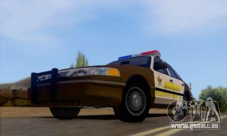 Ford Crown Victoria 1994 Sheriff pour GTA San Andreas laissé vue