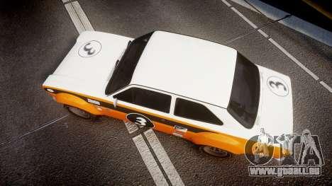 Ford Escort RS1600 PJ3 pour GTA 4 est un droit