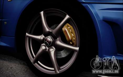 Nissan Skyline GT-R V Spec II 2002 für GTA San Andreas Rückansicht