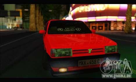 Tofas Dogan SLX Metalist (Arch Enemy) pour GTA San Andreas vue arrière