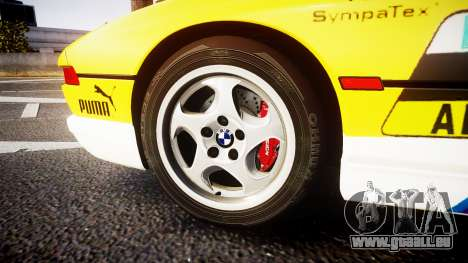 BMW E31 850CSi 1995 [EPM] E-Post Brief pour GTA 4 Vue arrière