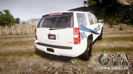 Chevrolet Tahoe 2010 LCPD [ELS] für GTA 4 hinten links Ansicht