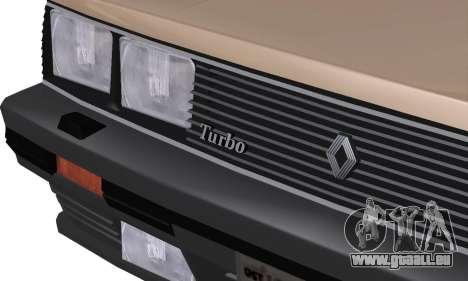 Renault 11 Turbo Phase I 1984 pour GTA San Andreas vue de côté