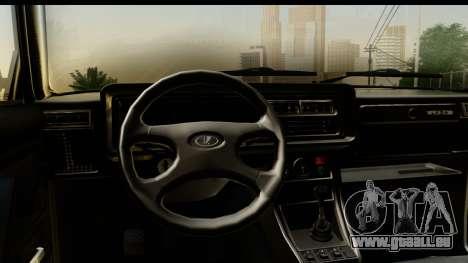 VAZ 2107 Flux pour GTA San Andreas vue arrière