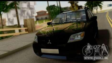 Mitsubishi Outlander für GTA San Andreas Rückansicht