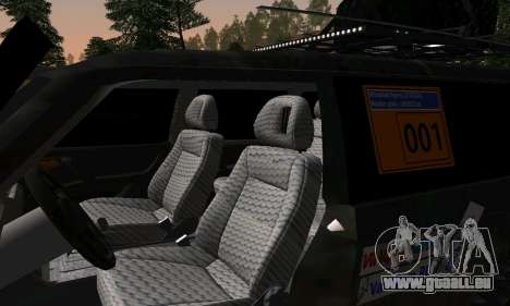 Mitsubishi Pajero Off-Road pour GTA San Andreas vue intérieure