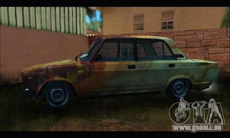 VAZ 2107 Rouillé pour GTA San Andreas laissé vue