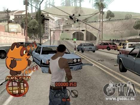 C-HUD PYX TAWER GHETTO für GTA San Andreas dritten Screenshot