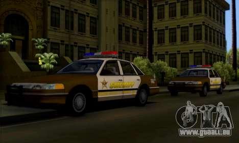 Ford Crown Victoria 1994 Sheriff pour GTA San Andreas vue de côté