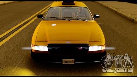 GTA 4 Vapid Stanier Downtown Cab für GTA San Andreas rechten Ansicht