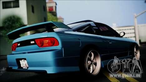 Nissan 180SX pour GTA San Andreas laissé vue