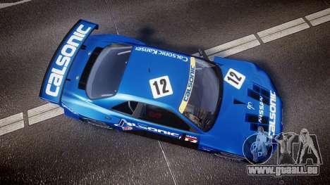 Nissan Skyline R34 2003 JGTC Calsonic pour GTA 4 est un droit