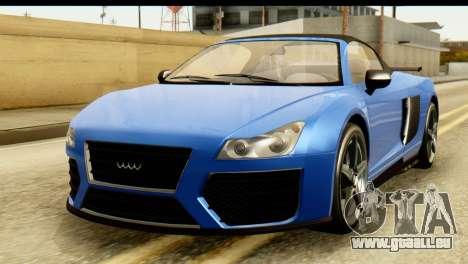 GTA 5 Obey 9F Cabrio für GTA San Andreas