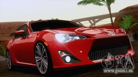 Toyota GT86 (ZN6) 2012 pour GTA San Andreas salon
