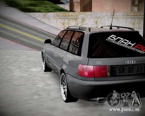 Audi 80 B4 Avant BAN.RF pour GTA San Andreas laissé vue