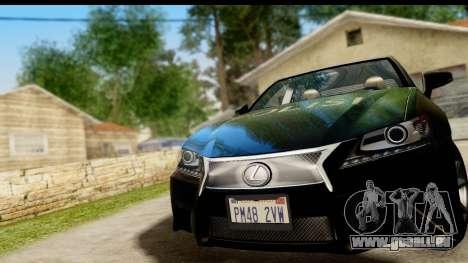 Lexus GS350 Indonesian Police für GTA San Andreas Rückansicht
