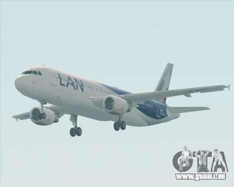 Airbus A320-200 LAN Argentina pour GTA San Andreas vue intérieure