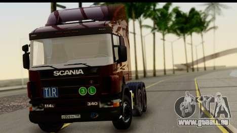 Scania P340 pour GTA San Andreas sur la vue arrière gauche