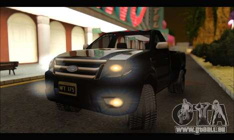 Ford Ranger Cabina Simple 2013 pour GTA San Andreas vue de droite
