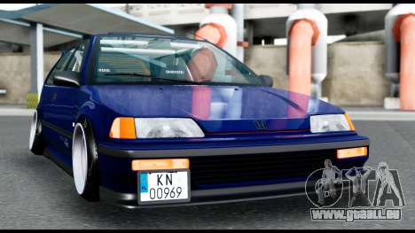 Honda Civic 4gen JDM pour GTA San Andreas vue de droite