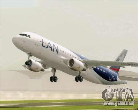 Airbus A320-200 LAN Argentina für GTA San Andreas Seitenansicht