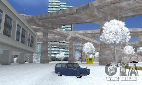 Reliant Supervan III pour GTA San Andreas sur la vue arrière gauche