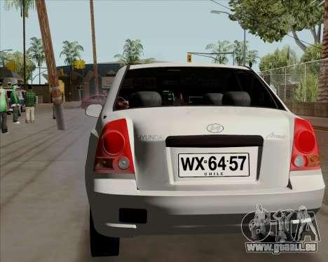 Hyundai Accent 2004 pour GTA San Andreas sur la vue arrière gauche