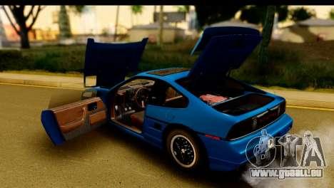 Pontiac Fiero GT G97 1985 HQLM pour GTA San Andreas vue intérieure