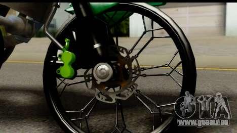 Kawasaki Ninja R Drag für GTA San Andreas Rückansicht