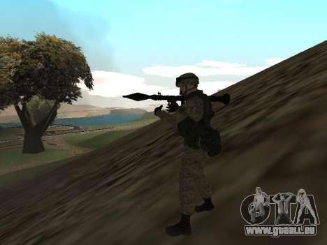 Les soldats de l'armée russe dans la tenue du Gu pour GTA San Andreas deuxième écran