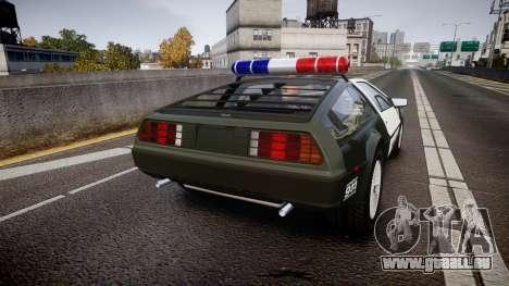 DeLorean DMC-12 [Final] Police pour GTA 4 Vue arrière de la gauche
