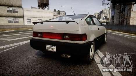 Dinka Blista Compact ST pour GTA 4 Vue arrière de la gauche