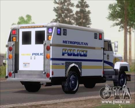 Enforcer Metropolitan Police für GTA San Andreas zurück linke Ansicht