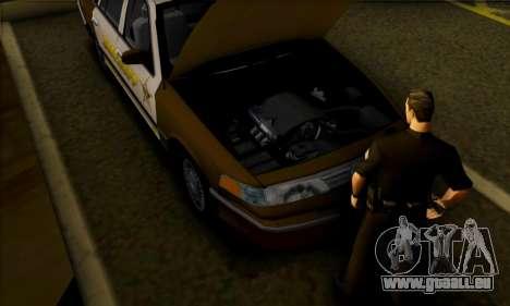 Ford Crown Victoria 1994 Sheriff für GTA San Andreas Rückansicht