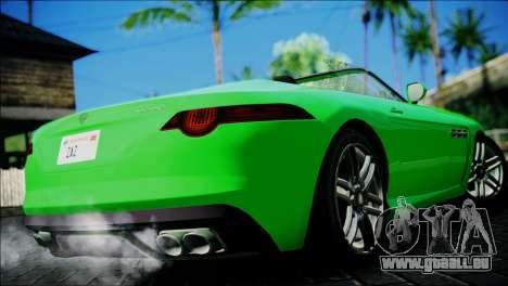 Benefactor Surano pour GTA San Andreas sur la vue arrière gauche