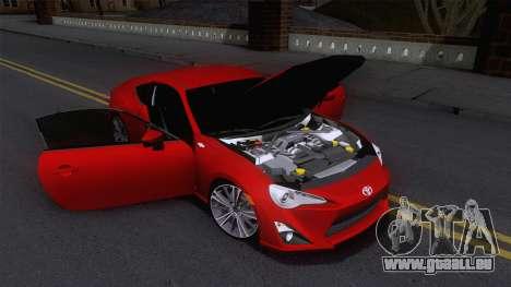 Toyota GT86 (ZN6) 2012 pour GTA San Andreas vue de côté