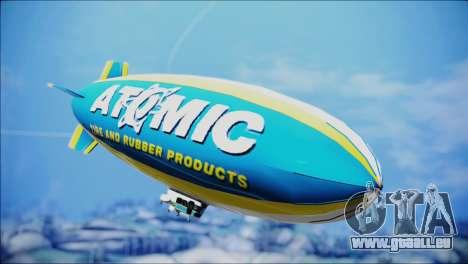 Blimp Atomic pour GTA San Andreas sur la vue arrière gauche