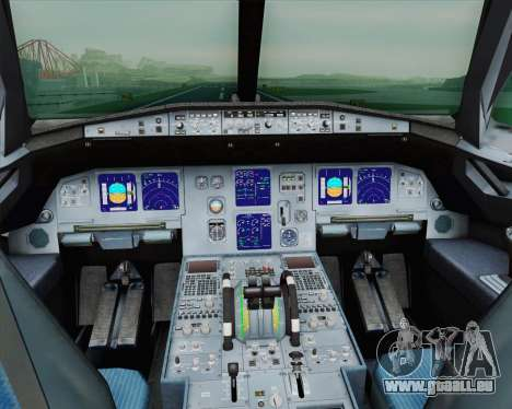 Airbus A321-200 French Government für GTA San Andreas Innenansicht