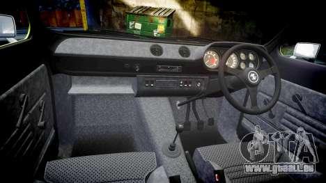 Ford Escort RS1600 PJ48 pour GTA 4 est une vue de l'intérieur