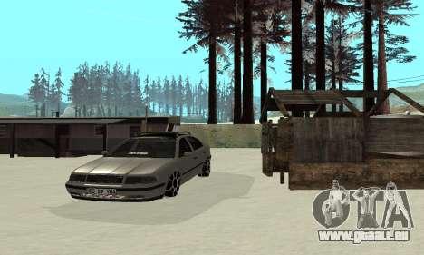 Skoda Octavia Winter Mode für GTA San Andreas obere Ansicht