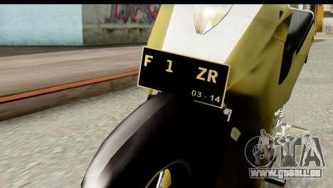 Yamaha F1ZR Stock für GTA San Andreas Rückansicht