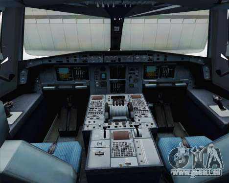 Airbus A380-800 F-WWDD Etihad Titles pour GTA San Andreas vue intérieure