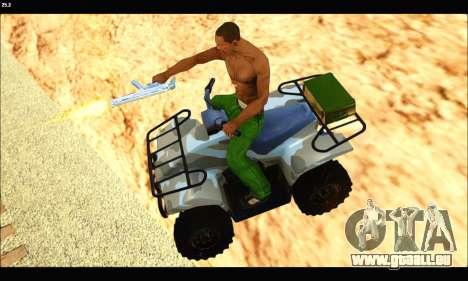 ATV Army Edition v.3 pour GTA San Andreas vue de droite
