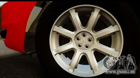 Mitsubishi Lancer X Stock pour GTA San Andreas vue de droite
