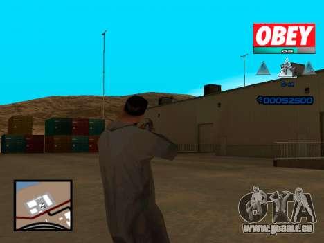 C-HUD Obey pour GTA San Andreas troisième écran