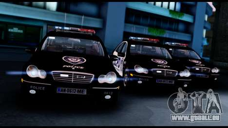 Mercedes-Benz C32 AMG Police pour GTA San Andreas