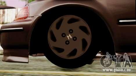 Honda Civic 1.6 pour GTA San Andreas sur la vue arrière gauche