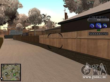 С-HUD GHETTO pour GTA San Andreas cinquième écran