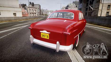 Ford Custom Tudor 1949 für GTA 4 hinten links Ansicht