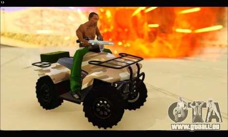 ATV Army Edition v.3 für GTA San Andreas Rückansicht